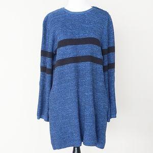 Free People Striped Crew Neck Sweater
